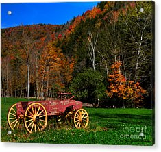 Vermont Wagon Acrylic Print