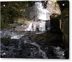 Vermont Waterfall Acrylic Print by Catherine Gagne
