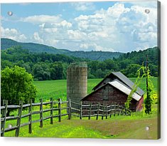 Acrylic Print featuring the photograph Vermont Welcome by Elaine Franklin