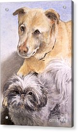 Acrylic Print featuring the painting Vern And Molly by Mary Lynne Powers