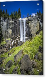 Acrylic Print featuring the photograph Vernal Falls In July At Yosemite by Mike Lee
