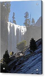 Acrylic Print featuring the photograph Vernal Falls Mist Trail by Duncan Selby