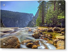 Acrylic Print featuring the photograph Vernal Falls Overlook by Mike Lee