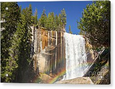 Vernal Falls Rainbow Acrylic Print by Jane Rix