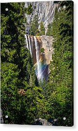 Acrylic Print featuring the photograph Vernal Falls Rainbow by Mike Lee
