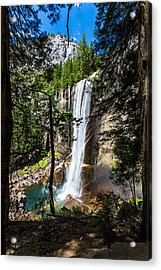 Acrylic Print featuring the photograph Vernal Falls Through The Trees by Mike Lee