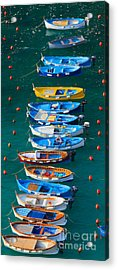 Vernazza Armada Acrylic Print by Inge Johnsson