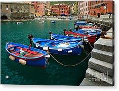 Vernazza Boats Acrylic Print
