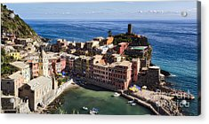 Vernazza From Above Acrylic Print by George Oze