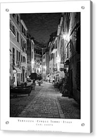 Vernazza Italy Acrylic Print by Carl Amoth