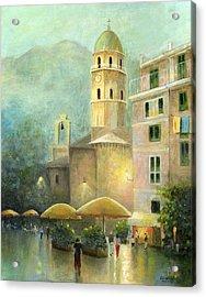 Vernazza Italy Acrylic Print by Cecilia Brendel