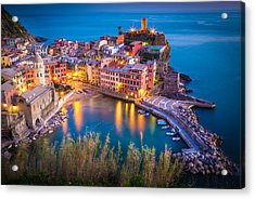 Vernazza Night Acrylic Print