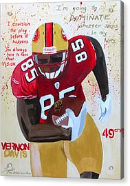 Vernon Davis 49ers Acrylic Print