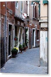 Venetian Alleyway Acrylic Print by Rae Tucker