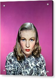 Veronica Lake Acrylic Print by Silver Screen