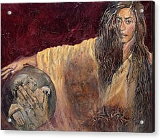 Veronica Wipes The Face Of Jesus Acrylic Print