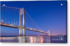 Verrazano Bridge Before Sunrise  Acrylic Print