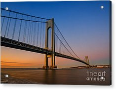 Verrazano Bridge Sunrise  Acrylic Print