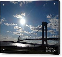 Verrazano Bridge Sunset Acrylic Print