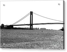 Verrazano Narrows Bridge 35mm Acrylic Print by John Rizzuto