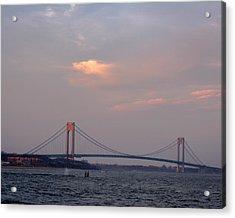 Verrazano Narrows Bridge At Sunset Acrylic Print