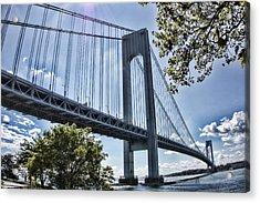 Verrazano Narrows Bridge Acrylic Print by Terry Cork