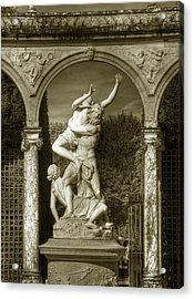 Versailles Colonnade And Sculpture Acrylic Print