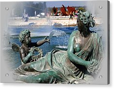 Versailles Fountain Acrylic Print by Jacqueline M Lewis