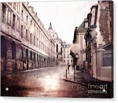 Versailles France Cobblestone Streetscape  - Romantic Versailles Architecture Painting  Acrylic Print by Kathy Fornal