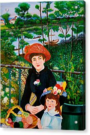 Version Of Renoir's Two Sisters On The Terrace Acrylic Print
