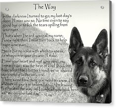 version two  The Way Acrylic Print
