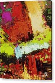 Vertical Climb Acrylic Print by Keith Mills