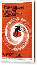 Vertigo Movie Poster - 1958 Acrylic Print by Mountain Dreams