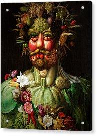 Vertumnus Acrylic Print by Giuseppe Arcimboldo