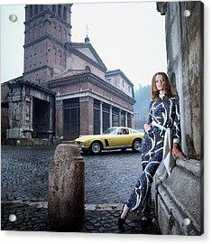 Veruschka Von Lehndorff Standing In Piazza Di San Acrylic Print
