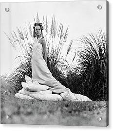 Veruschka Wearing A Castillo Dress Acrylic Print