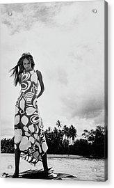 Veruschka Wearing A Nalii Dress Acrylic Print