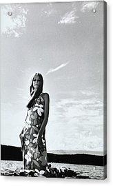 Veruschka Wearing A Suri Line Dress Acrylic Print