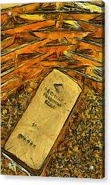 Very Beautiful Gold Ingots Acrylic Print by Teara Na