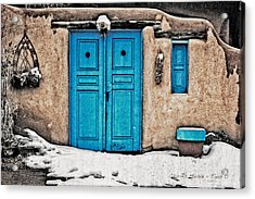 Very Blue Door Acrylic Print