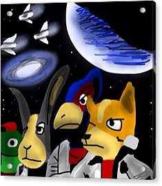 Very Late Entry #monkeysidebars #scifi Acrylic Print