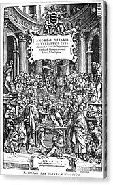 Vesalius Teaching Anatomy Acrylic Print