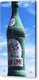 Acrylic Print featuring the photograph Vess Soda Bottle by Kelly Awad