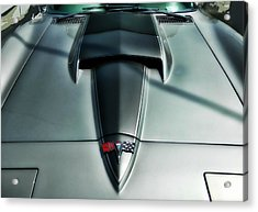 Acrylic Print featuring the photograph Vette Hood by Victor Montgomery
