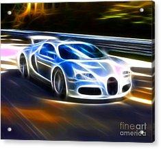 Veyron - Bugatti Acrylic Print by Pamela Johnson