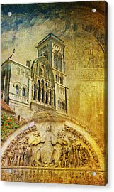 Vezelay Church And Hill Acrylic Print by Catf