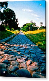 Acrylic Print featuring the photograph Via Appia Antica - Rome by Donna Proctor