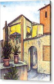 Via Roma Acrylic Print by Pamela Allegretto