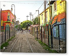 Acrylic Print featuring the photograph Vias De Caminito by Silvia Bruno
