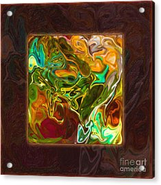 Acrylic Print featuring the painting Vibrant Fall Colors An Abstract Painting by Omaste Witkowski